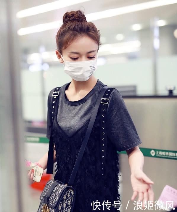 吴谨言身穿灰色T恤外搭黑色羽毛薄纱长裙 气质和魅力展现到极致插图(8)