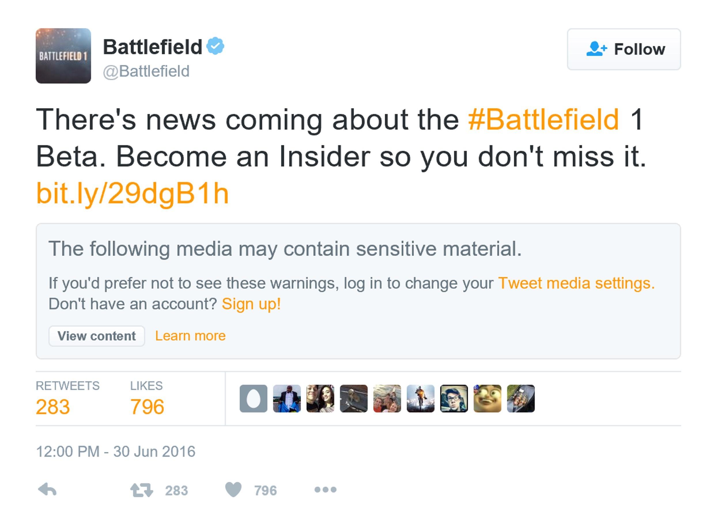 《战地1》Beta公测即将开始