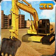 沙挖掘机自卸车辛