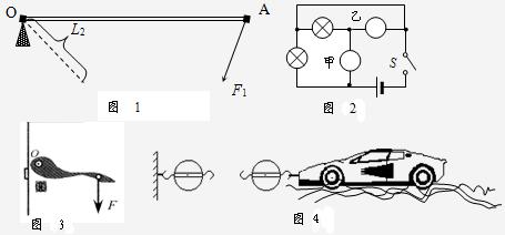 """试在甲,乙两个""""○""""内选填""""电压表""""和""""电流表""""的符号,使两灯组成并联"""