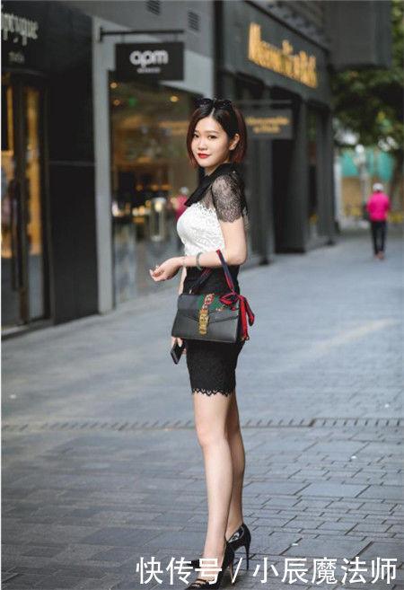 路人街拍,气质满分的小姐姐,轮廓性感分明,凸显女神的魅力