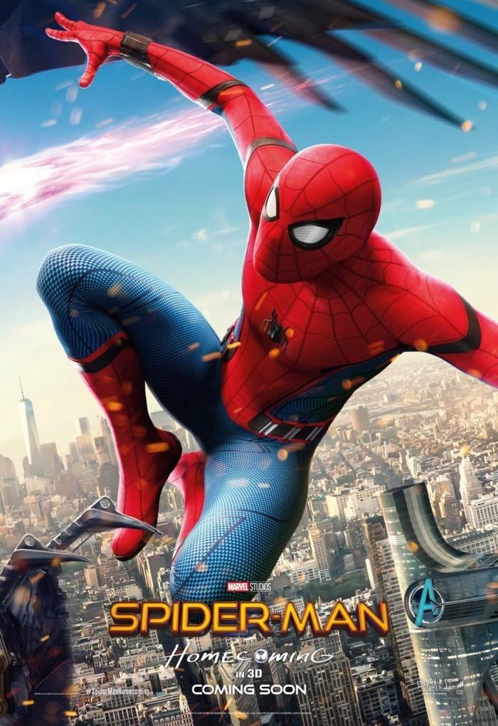 《蜘蛛侠:英雄归来》新海报 蜘蛛侠钢铁侠大战秃鹫