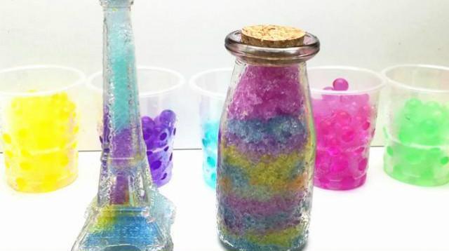 水舞珠珠手工制作流星瓶 许愿瓶 海洋瓶 冰冻粘土 水晶粘土