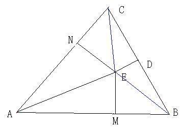 ec=eb(垂直平分线上的点到线段两端点距离相等