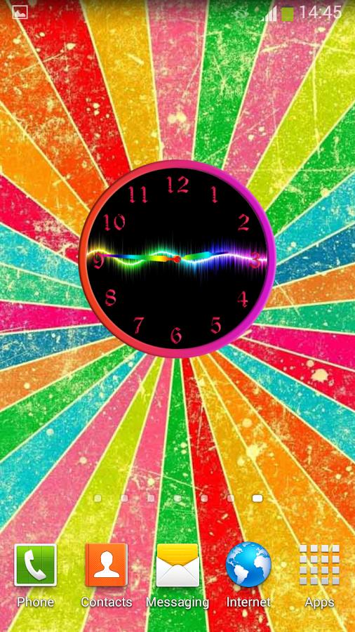 """选择从十""""长小部件"""",一个惊人的彩虹设计手表,指针和数字."""