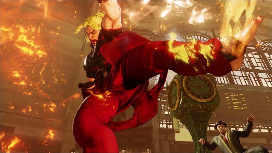 《街头霸王5》肯前重脚中段攻击连招方法