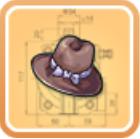 绅士帽图纸
