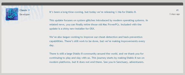 《暗黑破坏神2》时隔5年终更新