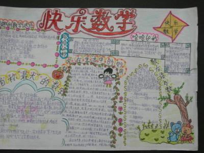 小学人教版四年级上册数学手抄报图片