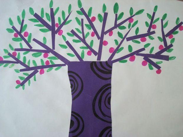幼儿园小班春天的树怎么画