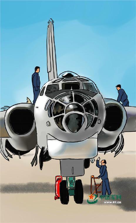 """涨姿势 手绘空军轰炸机的""""斩首行动"""""""
