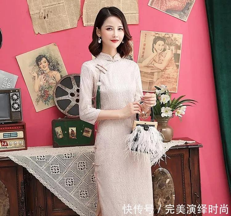 纯色蕾丝旗袍,这样才是真正的护理!