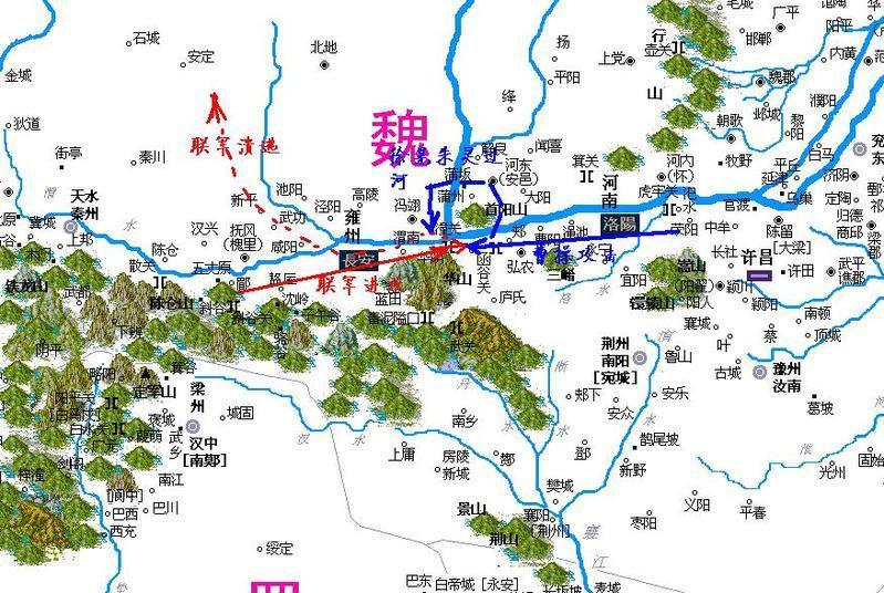 渭南华山风景区地图