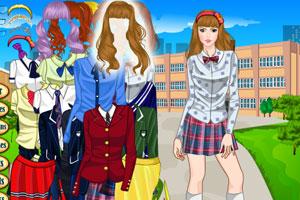 高校女生换装,高校女生换装小游戏,360小游戏档开自动的女生适合图片