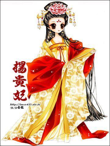 q版古装美女 嘀咕网; 和赵飞燕一样q版的杨贵妃;