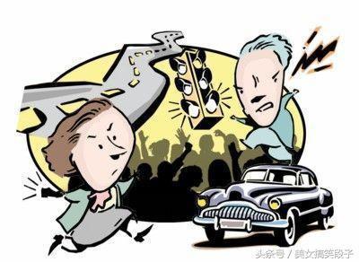 搞笑段子笑话幽默图片:大街上,一对情侣在吵架