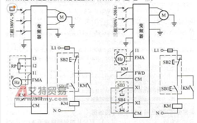 变频器接电位器怎么接_变频器电位器接线图_变频器外接电位