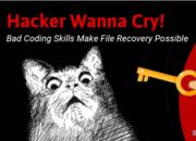 【国际资讯】别哭!WannaCry出现编程错误,受感染文件仍可恢复!