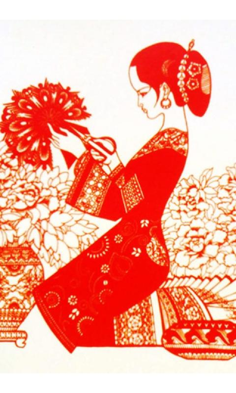 中国风剪纸艺术壁纸_360手机助手