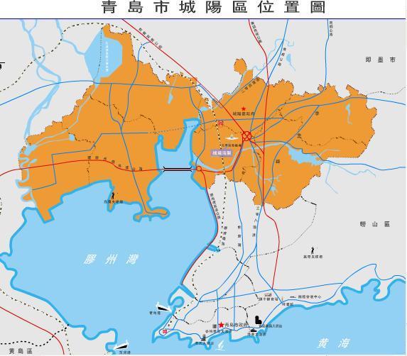 青岛城阳区河套地图
