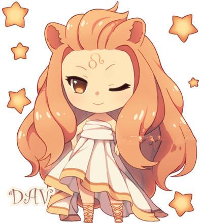 12星座少女动漫形象狮子座是什么样子?