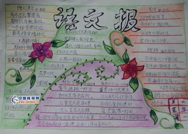 初中语文手抄报