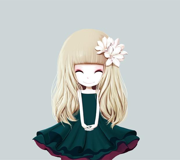这个齐刘海微笑着的卡通女孩叫什么名字?还有吗?