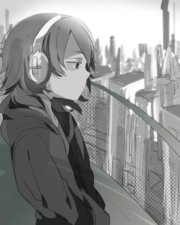 动漫男生qq头像听音乐