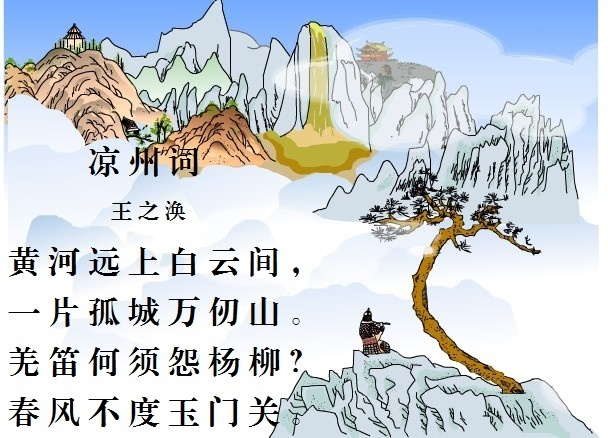 凉州词配图简笔画