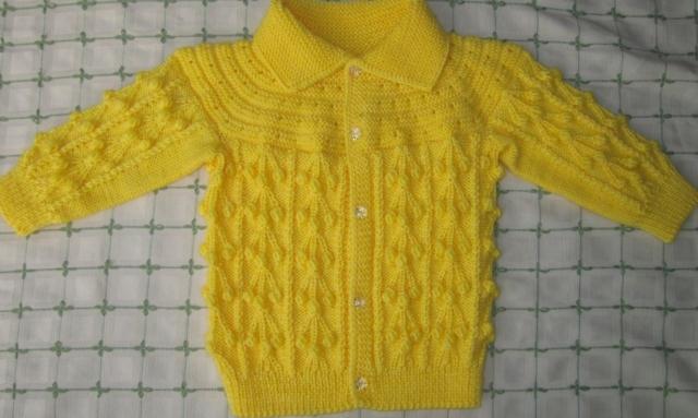 手工编织宝宝毛衣