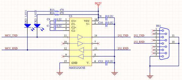 【串口与max232电路连接图】是否正确?