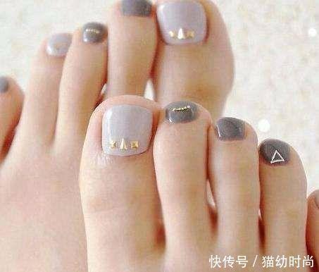 夏天好看又显白的脚美甲,让你美到脚趾尖!