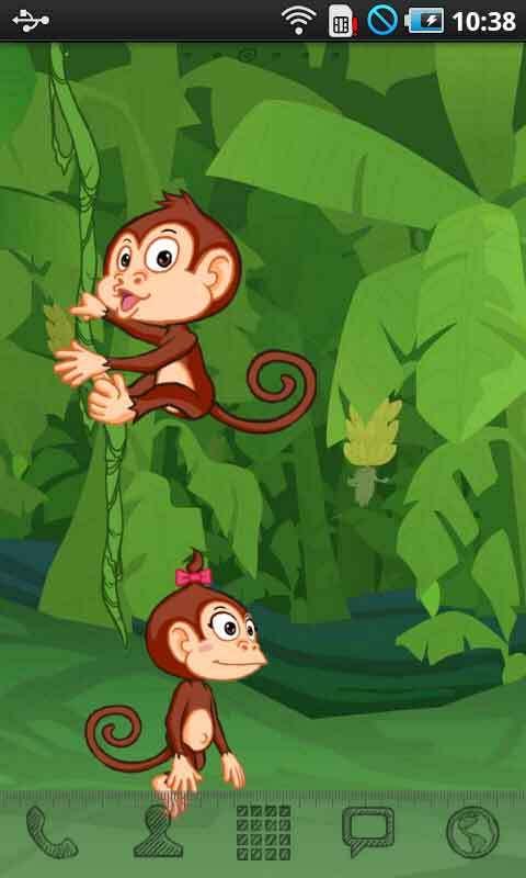 爬树的猴子动态壁纸_360手机助手