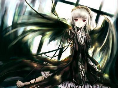 求超唯美带翅膀动漫女孩头像,急用!
