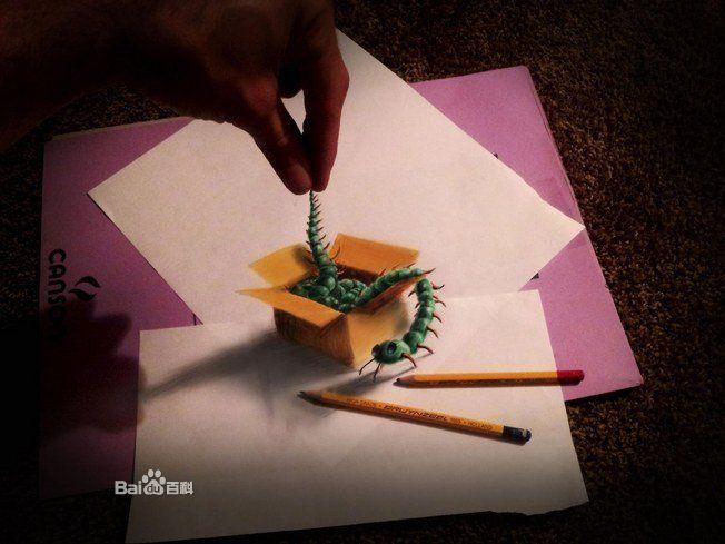 3d铅笔画