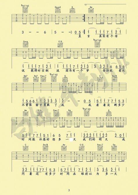 勋章的吉他谱