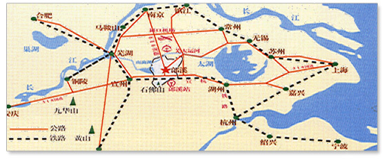 郎溪到蚌埠手绘地图