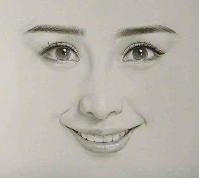 素描手绘《明星眼睛》