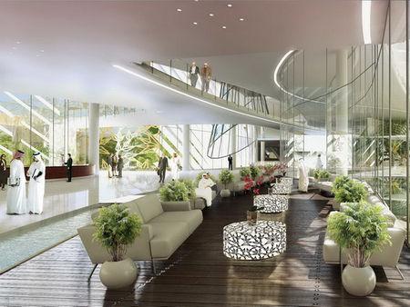 设计的经济大学教学楼 中庭景观东方大酒店中庭景观图片