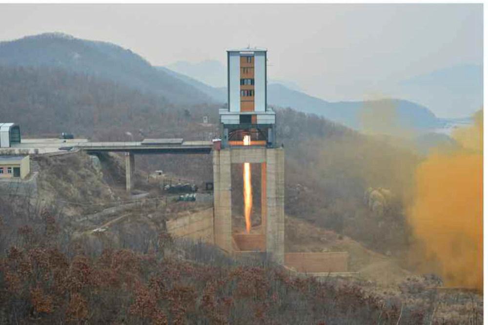 金正恩参观新型火箭发动机:地上点火试验 - 一统江山 - 一统江山的博客