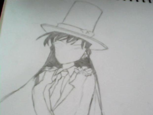 名侦探柯南毛利兰的眼睛怎么画