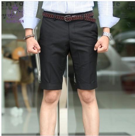 男士西装短裤搭配什么上衣?
