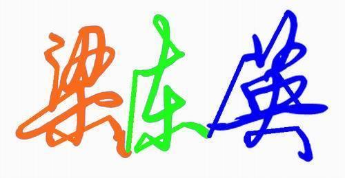 梁东英的艺术字签名怎样写