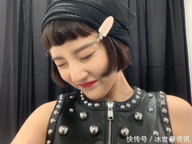 宋祖儿又换新发型,剪齐耳粉色配图片发卡,可爱短发的发型扁脸适合图片
