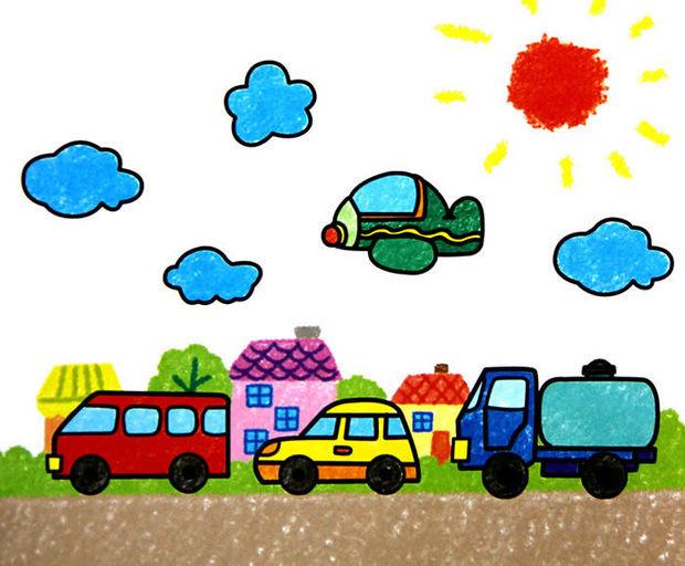 儿童画的汽车怎么画