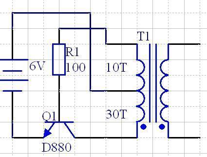 麻烦大神解释下这个三极管自激震荡电路的详细工作原理,小白,不是很懂