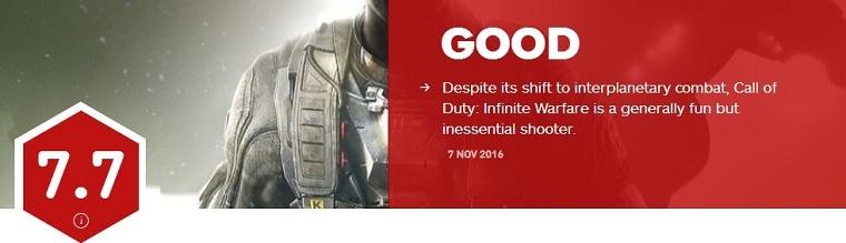 《使命召唤13》IGN评分